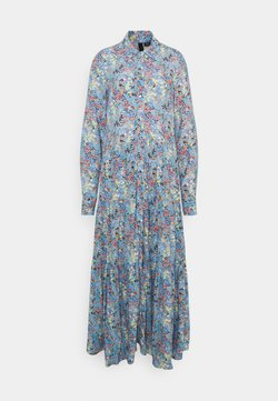 YAS Tall - YASSANTOS LONG SHIRT DRESS - Vestido largo - dusk blue/santos print