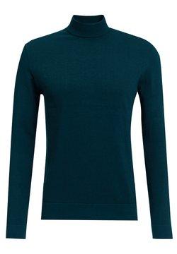 WE Fashion - MET OPSTAANDE BOORD - Strickpullover - dark green