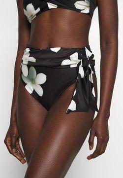 Lauren Ralph Lauren - HIGH WAIST TIE PANT - Bikini-Hose - black/white