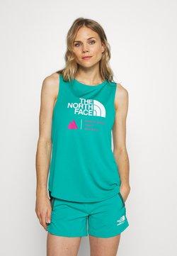 The North Face - WOMENS GLACIER TANK - Funktionsshirt - jaiden green