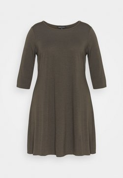 CAPSULE by Simply Be - POCKET SWING DRESS - Freizeitkleid - graphite