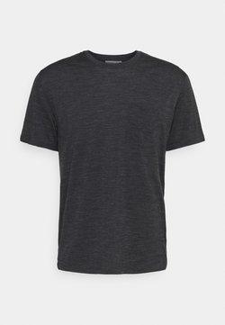 Icebreaker - RAVYN POCKET CREW - T-Shirt basic - jet heather