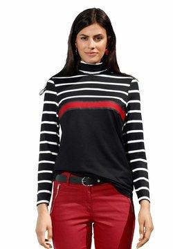 Amy Vermont - Langarmshirt - schwarz,rot,weiß