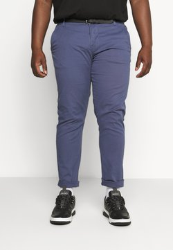 Lindbergh - CLASSIC STRETCH WITH BELT PLUS - Chinot - dusty blue