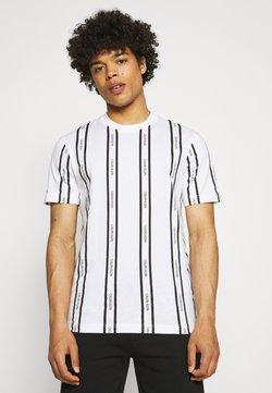 Calvin Klein - VERTICAL LOGO STRIPE - T-Shirt print - white