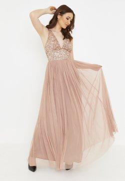 BEAUUT - MILLY EMBELLISHED SEQUINS - Długa sukienka - pale mauve