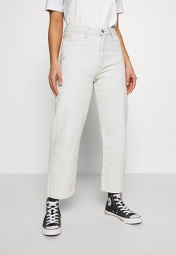 Lost Ink Petite - FRONT SEAM CROP PEPPER - Jeans Relaxed Fit - light denim