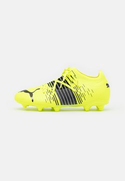 Puma - FUTURE Z 2.1 FG/AG JR UNISEX - Chaussures de foot à crampons - yellow alert/black/white