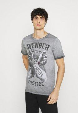 Key Largo - LIBERATE ROUND - T-shirt print - anthra