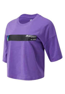 New Balance - STYLE OPTIKS - T-shirt con stampa - mirage violet