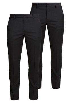 Burton Menswear London - 2 PACK - Puvunhousut - black