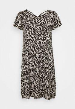 ONLY - ONLBERA BACK DRESS - Jerseykleid - black/eggnog