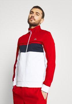 Lacoste Sport - TENNIS JACKET - Träningsjacka - ruby/white/navy blue/white