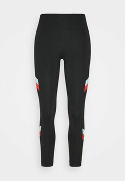 Nike Performance - ONE STRIPE 7/8  - Tights - black/chile red