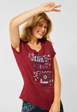 Cecil - MIT ETHNO-PRINT - T-Shirt print - braun