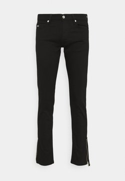 The Kooples - WASHED SLIM WITH ZIPPER DETAIL ON THE BOTTOM - Slim fit jeans - black