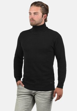 Solid - KARLOS - Strickpullover - black