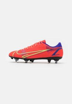 Nike Performance - MERCURIAL VAPOR 14 ACADEMY SG-PRO AC - Voetbalschoenen met metalen noppen - bright crimson/metallic silver