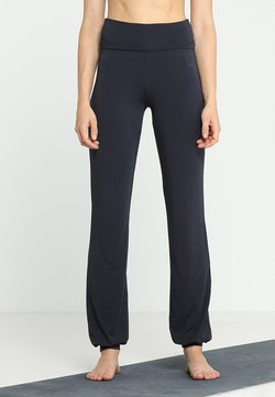 Curare Yogawear - LONG PANTS ROLL DOWN - Jogginghose - midnight/blue