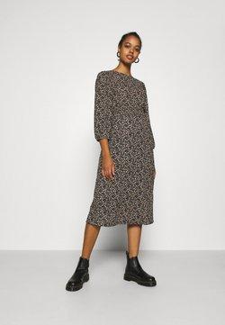 ONLY - ONLZILLE  SMOCK MIDI DRESS - Korte jurk - black/colored ditsy