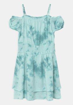 Abercrombie & Fitch - SMOCKED WAIST  - Freizeitkleid - light blue/white