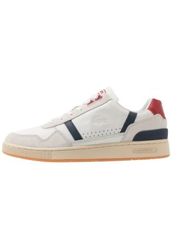 Lacoste - T-CLIP - Sneaker low - offwhite/navy/red