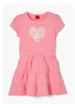 s.Oliver - MIT HERZ-PRINT - Jerseykleid - pink