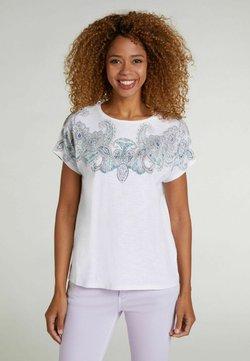 Oui - T-Shirt print - white green