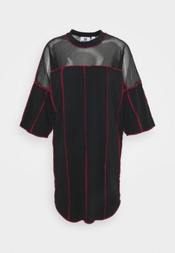 The Ragged Priest - PANELLED SKATER DRESS CONTRAST EXPOSED SEAMS - Robe en jersey - black