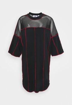 The Ragged Priest - PANELLED SKATER DRESS CONTRAST EXPOSED SEAMS - Sukienka z dżerseju - black