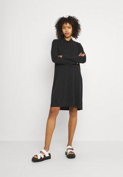 Object - OBJANNIE HIGHNECK DRESS - Jerseyjurk - black