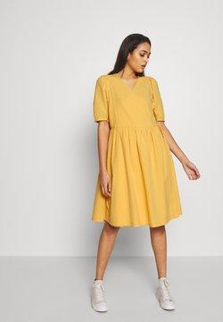 Monki - YOANA DRESS - Kjole - yellow medium dusty