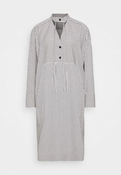 Proenza Schouler White Label - STRIPED PAJAMA CAFTAN - Freizeitkleid - optic white/cream/black