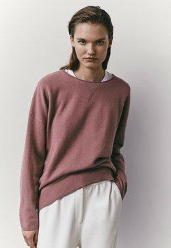 Massimo Dutti - MIT RUNDAUSSCHNITT  - Sweatshirt - neon pink