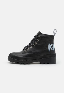 KARL LAGERFELD - TREKKA BRUSH LOGO HIKER - Nilkkurit - black