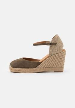 Unisa - CASTILLA - Platform sandals - salvia