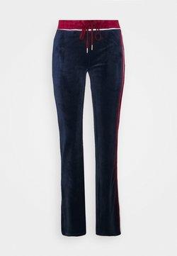 Jaded London - FLARED TRACK PANTS - Jogginghose - navy/burgundy