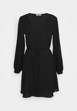 JDY - JDYHERMINE SHORT BUTTON DRESS  - Korte jurk - black