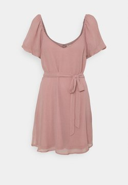 Nly by Nelly - CUTE SLEEVE DRESS - Cocktailkleid/festliches Kleid - dusty pink