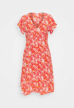 Object Petite - OBJBARB AYA SHORT DRESS - Day dress - poinciana