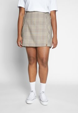 Cotton On Curve - ASPEN CHECK MINI SKIRT - Minirock - sarah tortoise