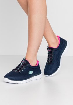 Skechers Wide Fit - SUMMITS - Sneakers - blue