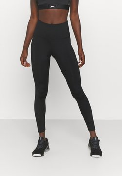 Reebok - RIBBED HIGH WAISTED WORKOUT READY SPEEDWICK REECYCLED - Tights - black