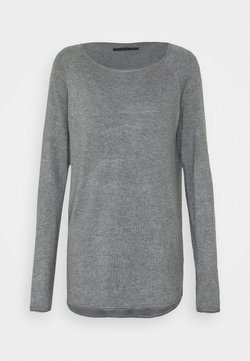 ONLY Tall - ONLMILA LACY LONG - Pullover - medium grey melange