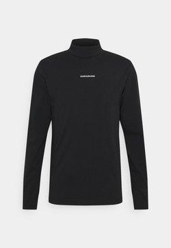 Calvin Klein Jeans - MICRO BRANDING ROLL NECK UNISEX - Pitkähihainen paita - black