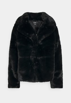 Missguided - SHORT COLLAR COAT - Winterjacke - black