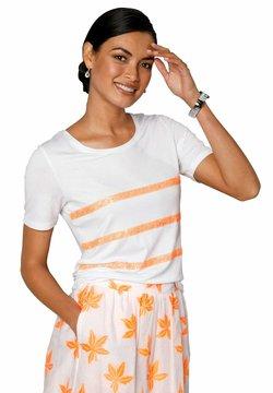Amy Vermont - T-Shirt print - weiß neonorange