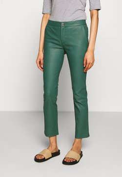 2nd Day - LEYA - Pantalon en cuir - sagebrush