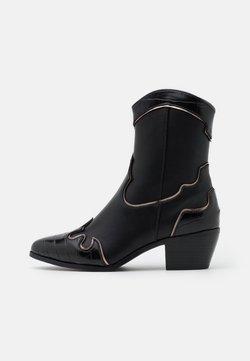 ONLY SHOES - ONLTOBIO CONTRAST BOOT  - Cowboy- / bikerstøvlette - black