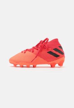 adidas Performance - NEMEZIZ 19.3 FOOTBALL BOOTS MULTI GROUND UNISEX - Fußballschuh Nocken - signal coral/core black/glow red